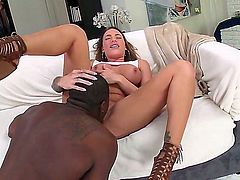 She loves getting penetrated, especially with a big black cock. And if her pussy gets licked beforehand, its all the more better. Watch her in an interracial video.