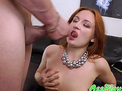 Bigtitted eurobabe anally fucked doggystyle