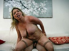 fat milf rides cock @ mommy swap