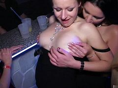 Everybody loves a club scene and its even hotter when there are people fucking everywhere you look Some prefer to find a private corner where they can really let it all go whereas others enjoy performing for the crowds gathered to watch. See a hot blonde give a male stripper a blowjob. Watch straight housewives finger blast each other and check out the swarms of hot chicks grinding it out on the dance floor