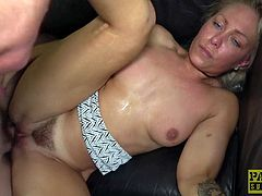 Tattooed Nova Shields has her dick-famished pussy slammed doggystyle