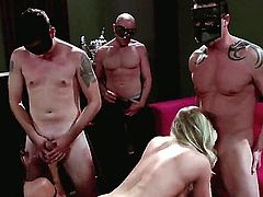Britney Amber and Nikki Daniels get out of their lingerie to have group sex with some guys that they have just met. They do everything together, so why not try to do this.