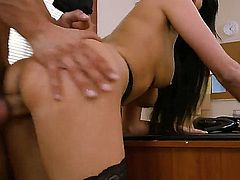Nice humpting with big tittted Anissa Kate in stockings - PornoID.com