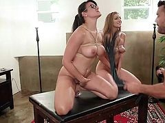 he warms his submissive sex slaves up