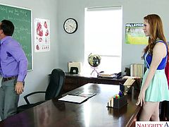 Seductive college chick Gwen Stark seduces handsome teacher
