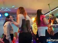 Spicy teenies get totally wild and stripped at hardcore party