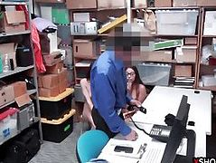 Teen thieves caught stealing and fucked by a security guy