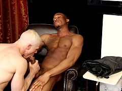 He invited his next door neighbor over for some hot gay sex. He is lucky to live beside a hunky black dude, who loves to suck cock and get fucked hard. Look at him wrap his lips around that dong and deepthroat that bbc.