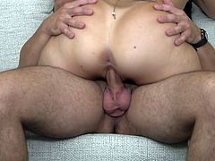 Her goal in life is to bounce up and down on her man's cock and make him cum hard. This sexy and elegant mature lady is ready for hardcore sex, as she bends over and takes it hard from behind with her man's big penis.