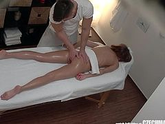 Unbelievable! We have three spy cameras in a massage salon. We spy on Czech girls during a massage and they have no idea they are being watched. You will be shocked when you see what's going on inside! Almost every massage ends with fucking!