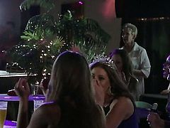 Amirah Adara and Jessa Rhodes enter a very special party. It is a sex party. There, people are expected to have group sex with each other. Not wanting to be rude, girls join in the fun.