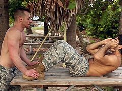 The army is the place where the strongest friendly relations are establishing and not only this... Watch and enjoy hardcore gay session in the locker room. Diego and Blake are sucking each others dicks and... Watch these greedy bottoms getting fucked so hard they wished they never would have fucked up in the first place!