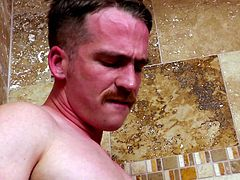 Doug knew that in the right situation, he could get some from his straight buddy Nate. He knew that in the right moment, that man and his mustache would be his. A setup in the shower at the right moment was all it took for Nate to step over to the gay side.