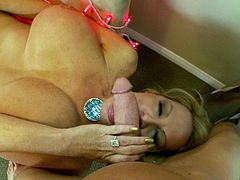 Kelly Madison is great at choking on a fellow's big dick