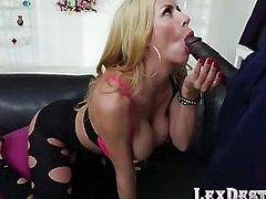 Alexis Fawx and Lexingtons hot interracial sex