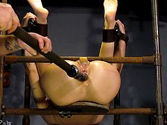 Abigail loves pain mixed with enjoyment and her lover, Master James, is always ready to provide his alpha-slave with those refined pleasures. Master James welcomes all those with a slave mind to submit themselves to his sadistically creative techniques and hand crafted devices. Have fun!