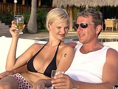 So when Vincent took her car without saying a word, it was off to Bora Bora with her best friend Boroka Bolls, and they just never returned. Life on the island is so nice and these blonde people cant help but live it up and take as many dicks as they can, and together of course