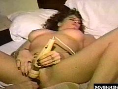 The one girl is a long haired brunette, who will be opening up her legs, allowing the redhead to rub her clitoris, while holding a huge vibrating sex toy against her clit and hairy snapper, until she gets an orgasm and switches places with her girlfriend.