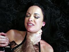 Because Alektra Blue is in trouble for getting tired, waiting for her Master to show up and fuck her. So shes going to get punished by penis, and fucked so hard her pussy lips will swell shut before hes through with her. A asphyxiation play forces out Alektras first orgasm, then her pussy gets it hard. Just when she thinks she cant take any more, he pops it out of her slit and pushes down her throat, where he dumps the entire contents of his nut sac, not even letting her taste it.