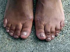 Hood MILF Brown Toenails