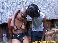 This sweet and playful ebony cockgobbler loves to have some leather bondages on herself because it makes things so much more exciting She has some rough sex.