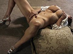 Kelly Madison enjoys a hot solo session with a vibrator