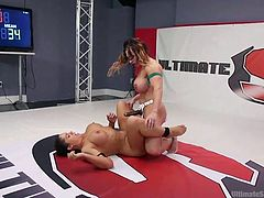 I can say with certainty that Jasmeen was not upset because of the loss, but quite the contrary. In this round of battle, in which the winner fucks the loser, she is the one who will get a hard strapon in her wet pussy. The busty babe is ready to receive such punishment every day