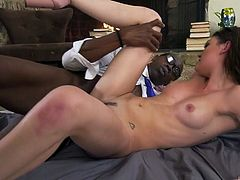 Whore wife Jessica Rex is cheating on her husband with hot black neighbor