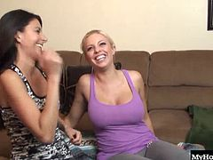 Britney Amber and Nikki Daniels are bisexual girlfriends