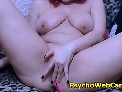 Horny amateur redhead wants some man with her but she only finds her toys, she has so nice ass and tits that you will think Im lying that she cant find some dick, but the fact is im not! She has big natural tits and so sexy body along with amazing butt, watch her enjoying her toys and sucking them like psycho!
