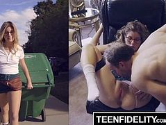 TEENFIDELITY Vienna Rose Tied Up and Creampied by the Neighbor