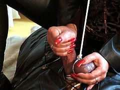Handjob Torture Long Red Nails