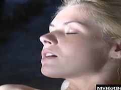 She has big, dick sucking lips, nice perky hooters, a mostly shaved pussy and a bubble butt that will get your dick hard in a hurry Watch her take off her panties, before sitting on her mans hard cock, letting you watch inner thighs as she rides it for an orgasm, until she blows him for a facial.