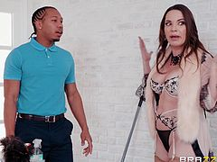You can hardly blame Dana DeArmond for seducing this black man. After all she is a gorgeous women at her prime and her husband often neglects her. She has no choice but to seek cock elsewhere. Luckily for her, black stud Ricky came at the perfect moment to satisfy her craving.