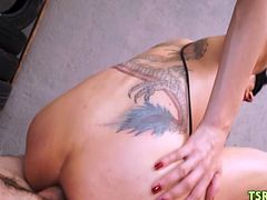 Sadistic guy humiliates and roughly fucks in both holes poor shemale latina Kamila Camargo. Kamila got to lick his feet and suck his fingers just pulled out from her slutty ass.