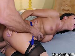 Cocksucking lingerie fantasy babe pussy fucked