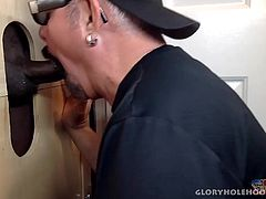 Another new guy has found his way to my gloryhole, wanting to see what its all about. Of course, I pull out all the stops to show him an oral pleasing good time. He leaves with a big smile on his face and the taste of two cum loads on my tongue.