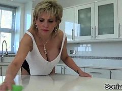 Unfaithful british milf lady sonia reveals her monster tits6