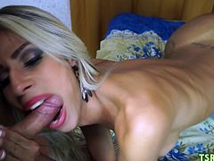 Also Bruna does her best to give guy an oral pleasure!