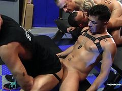 Ray Dalton, Cesar Xes, Leo Donato, Milan Gamian, Sterling Johnson and Caleb Rogers come together to celebrate bareback fucking, cock sucking and man-on-man ass breeding in a way that can only be described as rough and raunchy. Watch them suck, fuck raw and breed each other in one of the hottest flip flopping porn star orgies of the year.