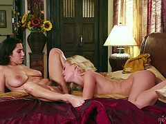 Mind-blowing lesbian pussy sucking with awesome April O'Neil