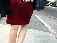 cum on ass maroon dress