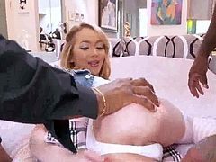 Angel LOVE DOUBLE PENETRATION BY BIG BLACK COCK !