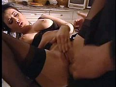 Elodie Cherie Assfucked In Black Stockings