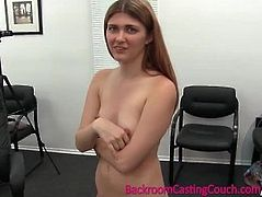 Redhead Gets Anal and Creampie on Casting Couch