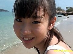 Jav Teen Debut Mirai Arisa Teases On The Beach Pulls Bikini
