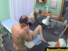 Real patient fingerfucked and pounded by doc