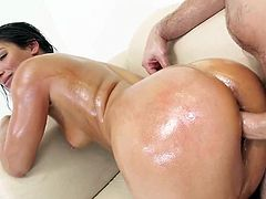 Anal Whore Abella, Sodomized in Oil