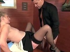 French Milf takes younger guy up the Ass