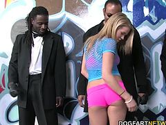 Aiden teased the black man before accepting his black anaconda down her mouth. Those free hands of hers stroked every foot of black meat in that vicinity until she was bent over and had us bust a train on that white ass.